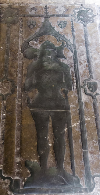 Courtenay brass, Exeter Cathedral