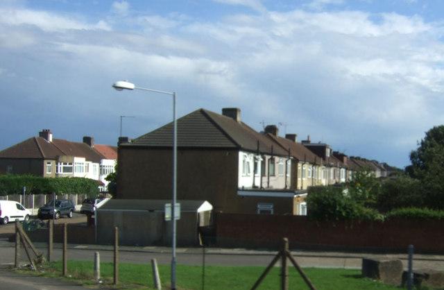 Houses on Warley Avenue, Chadwell Heath, Romford