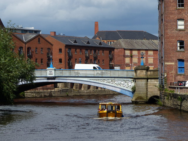 Leeds Dock Water Taxi on the River Aire