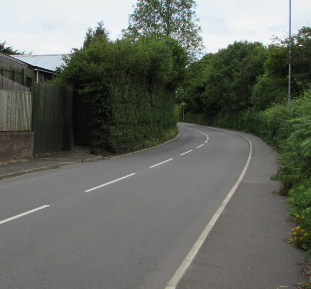 Hereford Road from Mardy towards Llantilio Pertholey, Monmouthshire