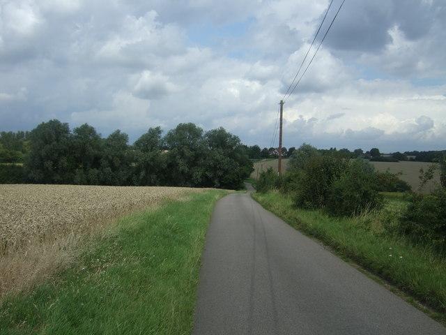 Minor road towards Shingle Hall