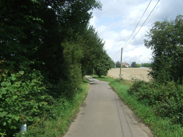 Minor road crossing Cobbin's Brook