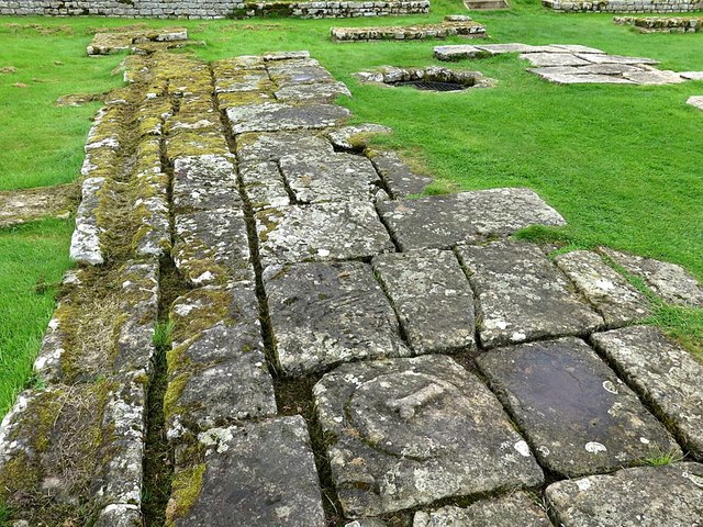 Courtyard of Headquarters Building, Chesters Roman Fort