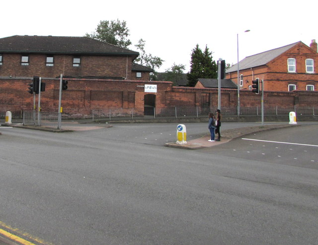 Junction at the eastern end of Tallow Hill, Worcester
