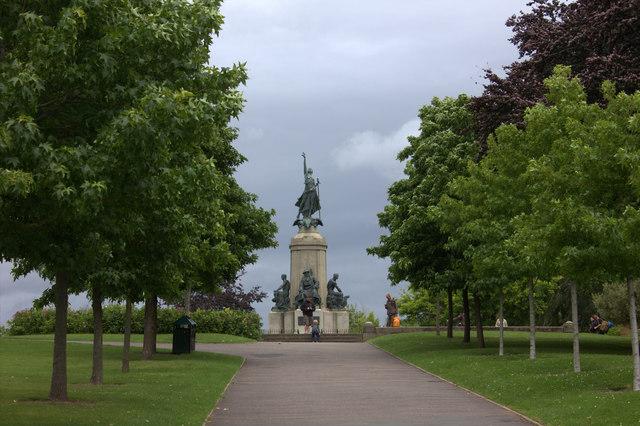 War memorial, Northernhey Gardens, Exeter