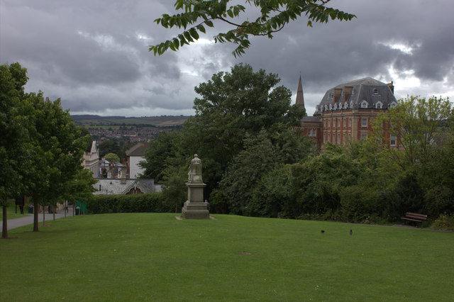Northernhey Gardens, Exeter.  Looking westwards.
