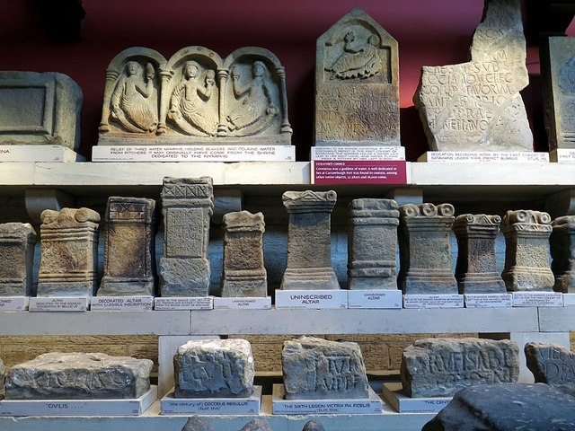 Roman altars, The Clayton Museum, Chesters Roman Fort