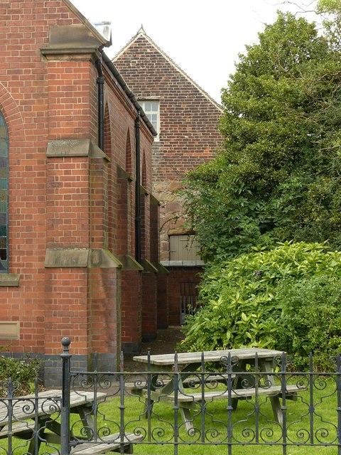 Glimpse of the abbey gatehouse