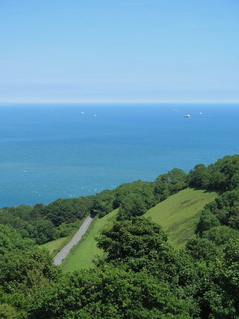 Shanklin to Ventnor road, Luccombe