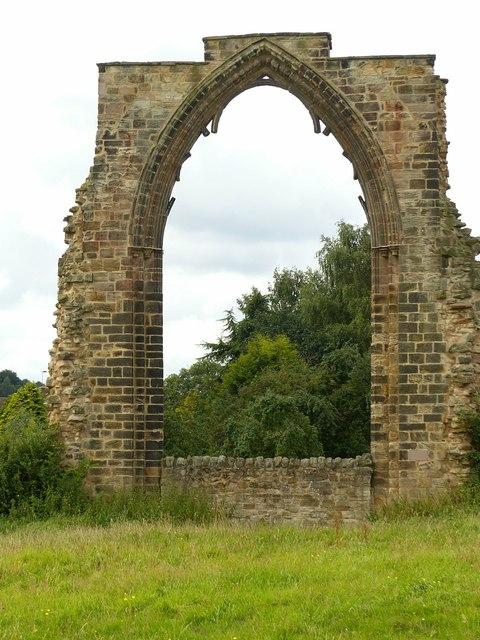 Dale Abbey ruins, east window
