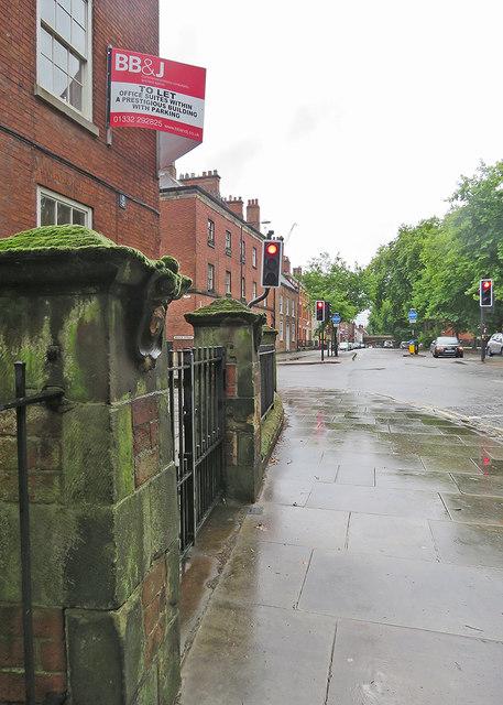 Derby: a wet summer morning in Friar Gate
