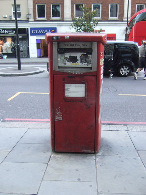 Royal mail business box on Bishopsgate, London E10