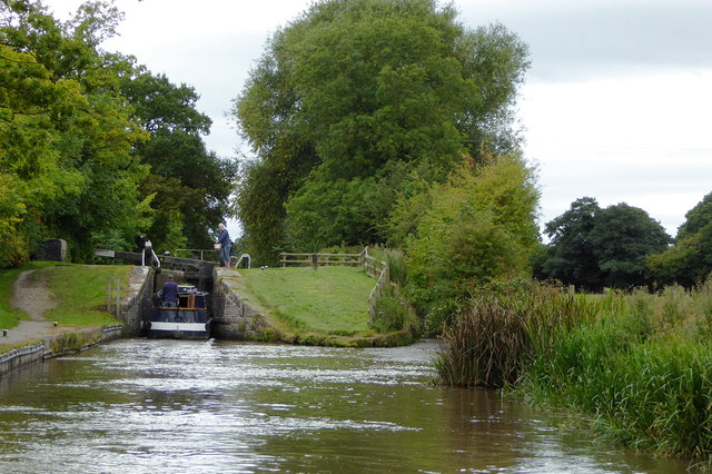 Swanley No 1 Lock near Burland in Cheshire
