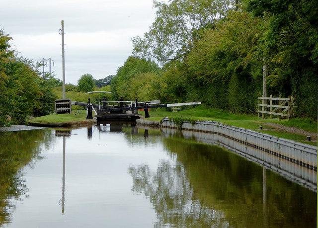 Llangollen Canal near Swanley in Cheshire