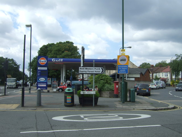 Service station on Woodford New Road