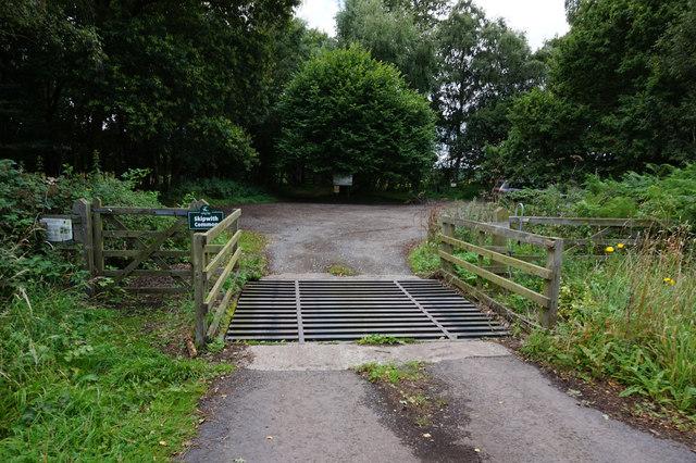 Car park entrance at Skipwith Common