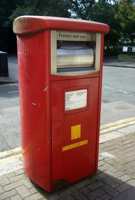 Royal Mail business box on Duncan Terrace, London N1