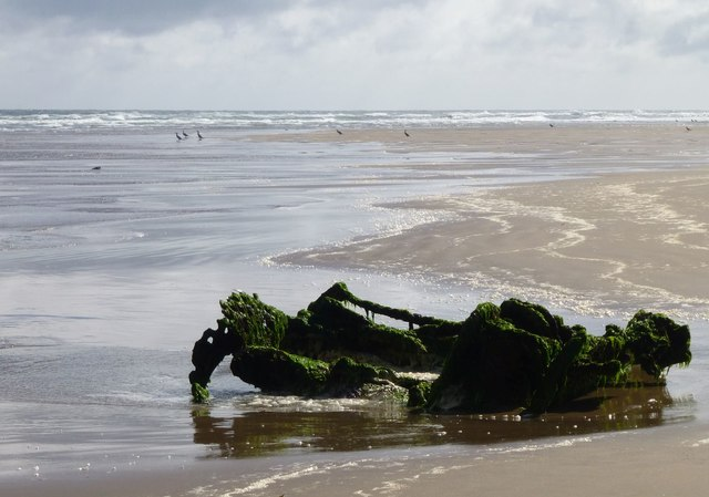 Another wreck on Goswick Sands
