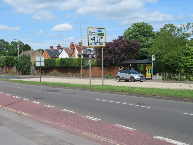 Bus stop on the Farnborough Road