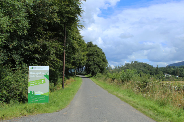 Road to Kirroughtree Visitor Centre