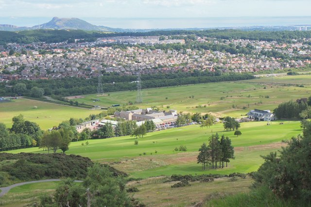 Swanston and its golf course