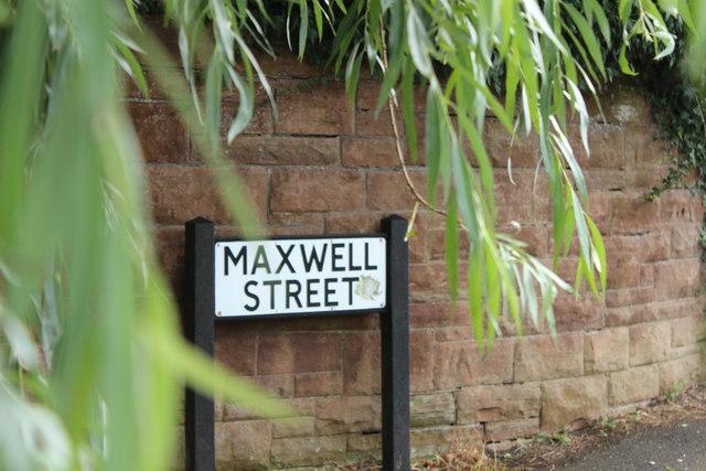 Maxwell Street Sign, Dumfries