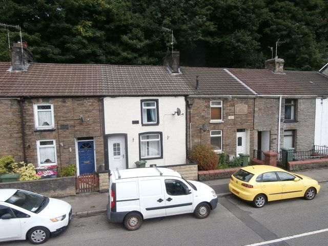 Terraced houses in Pentrebach Rd, Pontypridd
