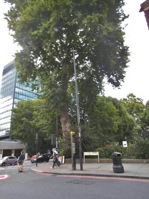 Upper Woburn Place at the corner of Euston Road