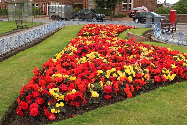 Flower Garden at War Memorial, Dumfries