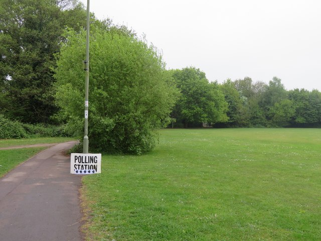 Polling station at local school