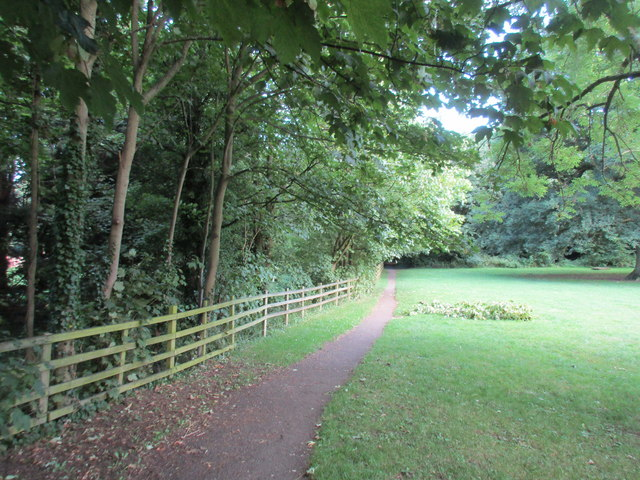 Footpath by the River Dene. Wellesbourne