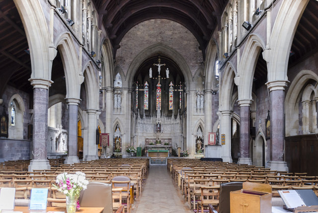 Interior, Sacred Heart RC church, Exeter