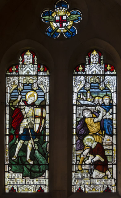 Stained glass window, Sacred Heart church, Exeter
