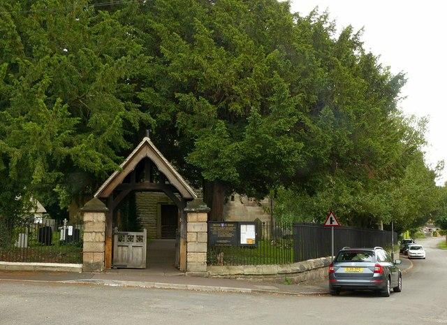 Lych gate, All Saints Church, Ockbrook
