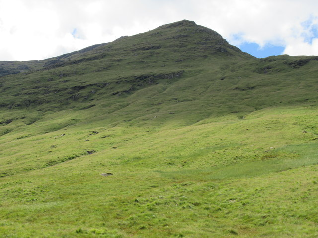 Slopes on the west bank of Allt Coire Laoigh near Tyndrum