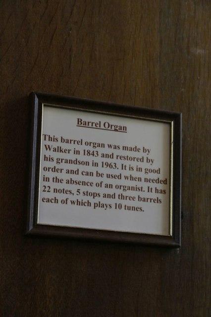Notice on the Organ