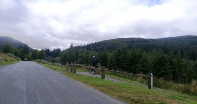 Cycle Track crosses the Whinlatter Pass