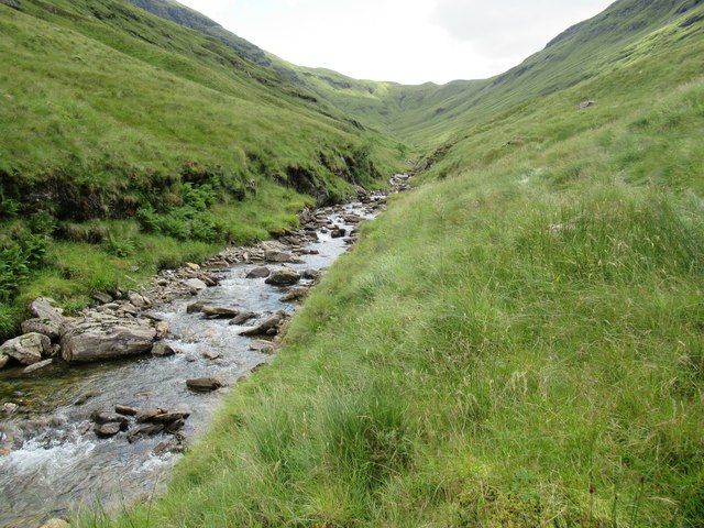 Higher in the course of Allt Coire Laoigh near Tyndrum