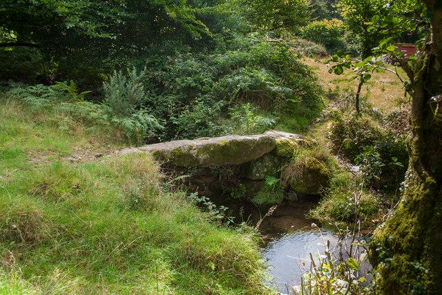 Clapper Bridge over Lovaton Brook