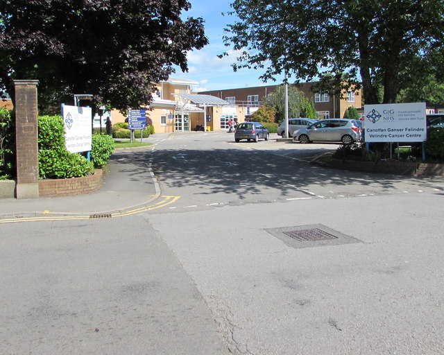 Entrance to Velindre Cancer Centre, Whitchurch, Cardiff
