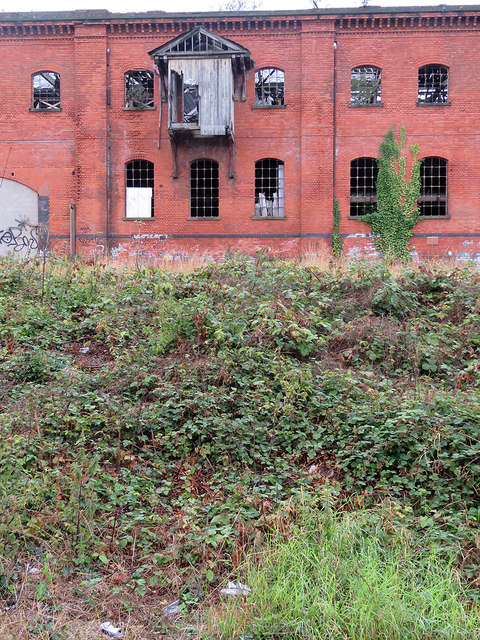 Derby: the derelict Friargate Goods Warehouse