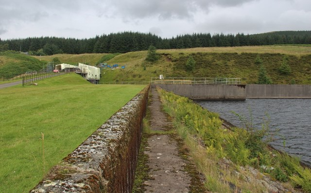 Reservoir dam, Glengavel