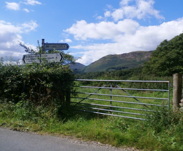 Gated Field at the Hopebeck Road Junction