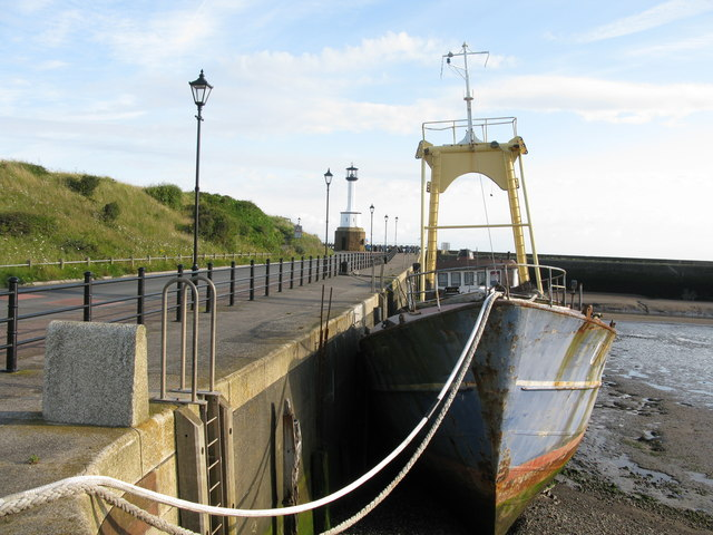 Entrance to Maryport Harbour