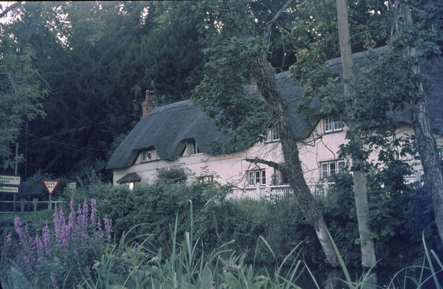 Thatched Cottage near Wherwell (1974)