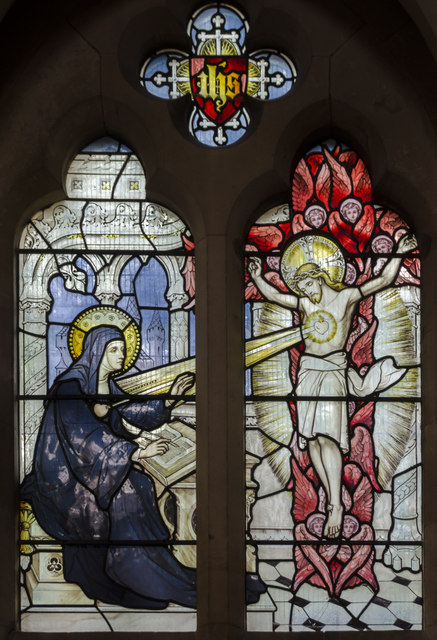 Stained glass window, Sacred Heart RC church, Exeter