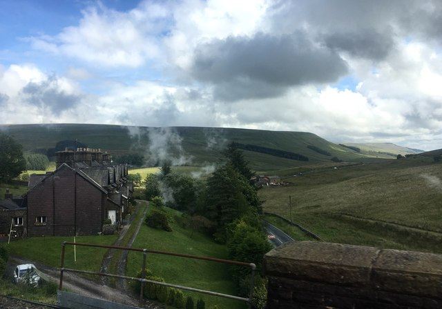 View from the Dandrymire Viaduct