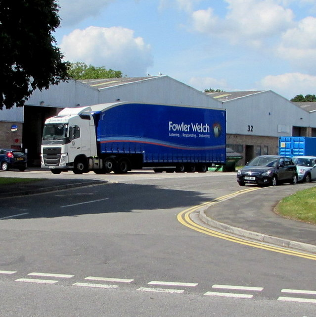 Fowler Welch articulated lorry in Beeches Industrial Estate, Yate
