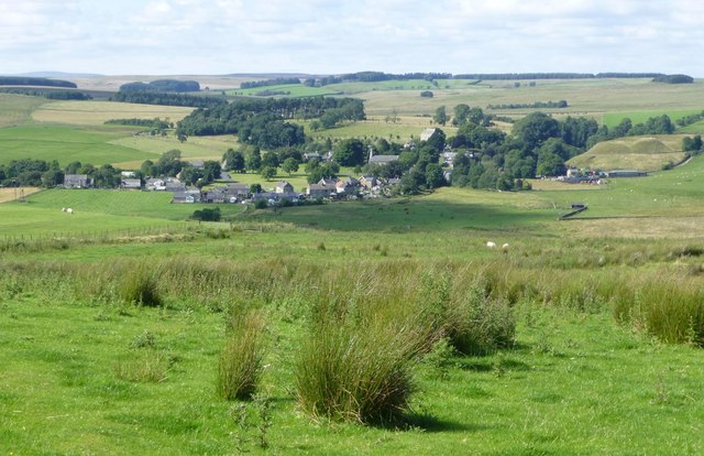View over sheep in pastures