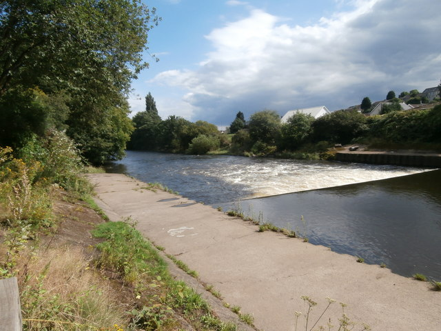 Weir on the River Taff, Pontypridd